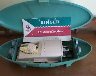 Green Singer Buttonholer