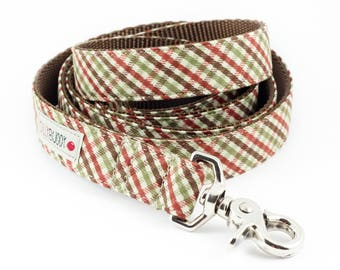 Brown Plaid Dog Leash