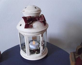 Antiqued star lantern