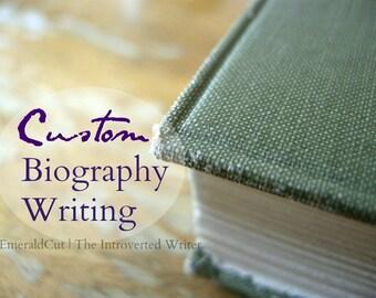 SHORT 150 Words Custom Personal Bio - Writing Service Electronic Document / Living Legacy Research Editor, Storyteller Generational Legacies