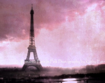 Pink Eiffel Tower Baby Girl Nursery Decor, Paris Photographs, Pink Eiffel Tower Prints, Paris Pink Wall Art, Eiffel Tower Pink Wall Decor