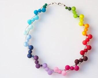 rainbow necklace colorful necklace polaris necklace with Swarovski® Kristallen