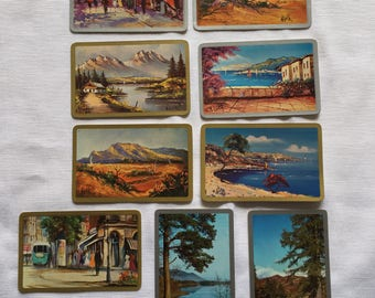 Vintage   Landscape   Paintings   Swap Card   Playing Cards