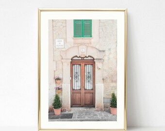 Spanish Door Photography // Gallery Wall Art // Brown Home Decor // Rustic Prints // Spanish Decor // Beige Wall Art