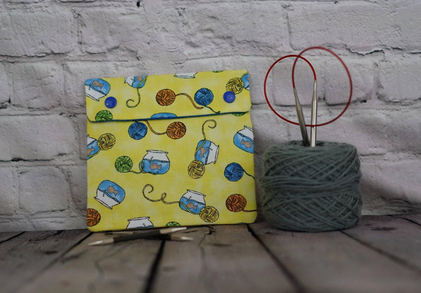 Goldfish Bowl and yarn Circular Knitting Needle Case or Notions case ...