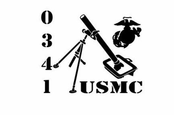 Usmc Mortarman Decal Military Decals Marine Corps Decals