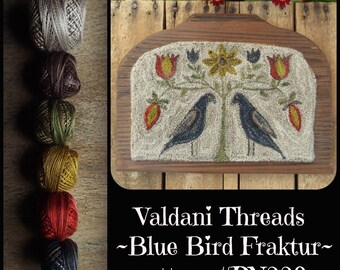 Valdani Thread Kit for PN229 Blue Bird Fraktur Punch Needle