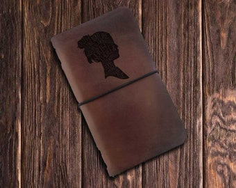 Custom Traveler's Notebook Cover // Searching For Neverland Leather Journal // Peter Pan  // free Personalization