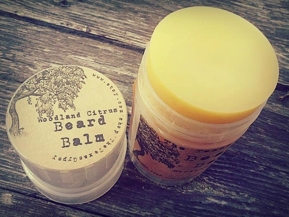 Woodland Citrus Beard Balm 2 oz twist up (Citrus Nag Champa Eucalyptus) *WHOLESALE*