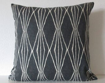Handcut Shapes Charcoal Black Pillow Cover