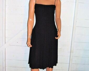 Vintage A.B.S. Black Pleated Dress L