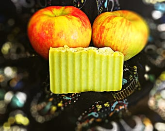 Apples and Fresh Cut Grass Cold Process Soap