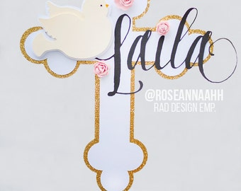 Personalized Christening Cake Topper, Baptism Cake Topper, First Communion Cake Topper, Confirmation Cake Topper, Religious Cake Decoration