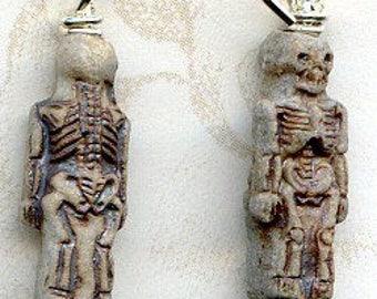 Skeleton Earrings  Sterling Silver