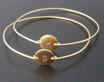 Personalized Gift for Mom for Christmas, Bracelet with Kids Initials (Set of 2), Mother Gift from Daughter for Christmas, Mother in Law Gift