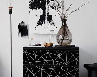 IKEA MALM Dresser Geometric Triangles | Removable Ikea Decals | Furniture  Stickers | Furniture Decals Set