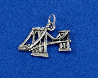 Brooklyn Bridge Charm - Silver Plated Bridge Charm for Necklace or Bracelet