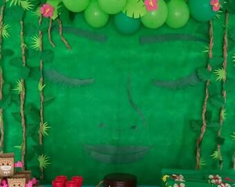 """DIY Moana Birthday Party """"Returns the heart of Te Fiti"""" Backdrop Moana Luau Birthday Party Digital Printable Hawaiian Summer Party Decor"""