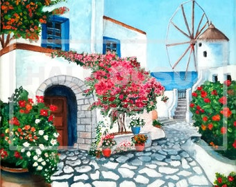 Oil Painting; Landscape Painting; Small Town Painting; Oil Painting On Canvas; Home Decor; Wall Art