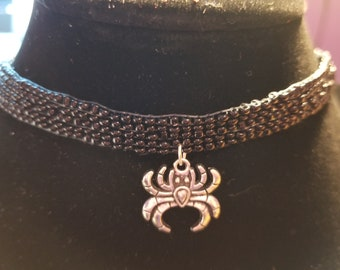Choker with Spider Charm