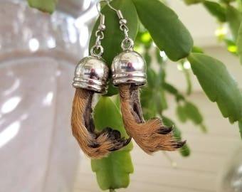 Squirrel Paw Earrings