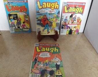 Four Archie Comic Book Group Laugh