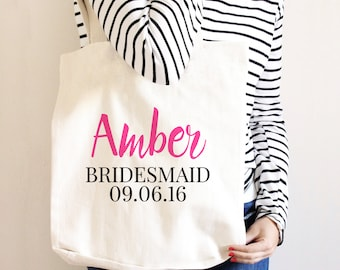 Bridesmaid Canvas Tote Bag - Bridesmaid Gift
