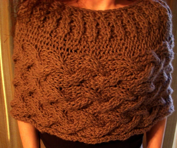 Knitting Pattern Shawl Poncho Pdf Covington Capelet Wrap Knitting