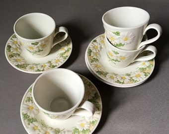 Metlox Poppytrail Cups and Saucers Set of 4