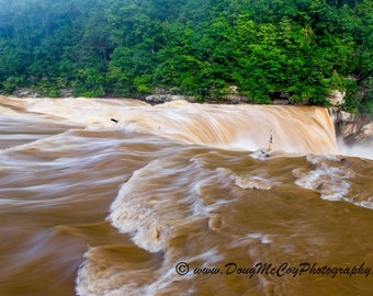 High Water at Cumberland Falls State Park. #2671
