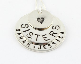 Sisters Gift - Gift For Sister - Personalized Necklace - Custom Necklace - Sterling Silver Necklace - Best Friend Necklace - Name Necklace