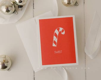 Sweet tidings Unique Christmas Greeting Card