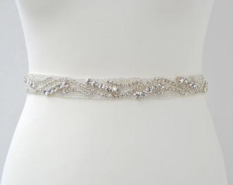 Stunning Crystal Bridal Sash Wedding Dress Sash Belt  Rhinestone Sash Rhinestone Bridal Bridesmaid Sash Belt Rhinestone Wedding dress sash
