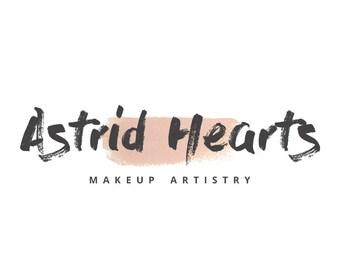 Astrid Hearts MUA Business Logo