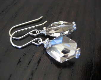 Cosmic Shaped Swarovski Crystal Earrings in Silver Shade...FREE SHIPPING