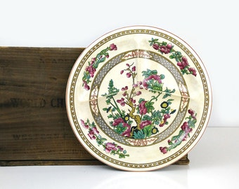 Indian Tree Plate / BCM Lord Nelson Ware Divided Dinner Plate / 1920s England