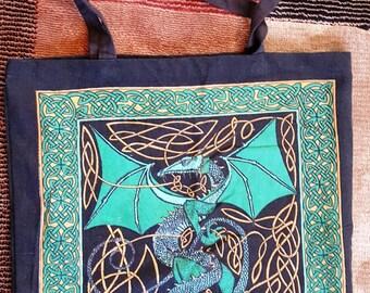 Celtic Dragon Shopping Bag