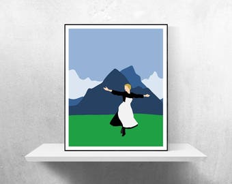 The Sound of Music Minimalist Poster | Sound of Music Minimalist Poster Minimalism Von Trapp Family Rodgers Hammerstein Music Movie Poster