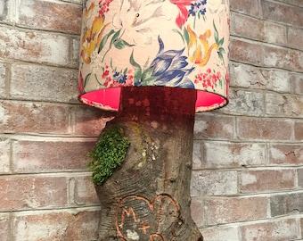 Personalized Oak Log Lamp