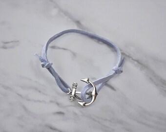 Baby Blue Anchor Bracelet