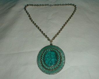 native american pendant necklace vintage