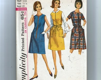 Simplicity Misses'  One Piece Dress or Jumper in Half Sizes Pattern 5409