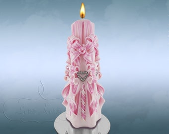 Carved candles - Carved  Candle - Unique candle -  gift for her