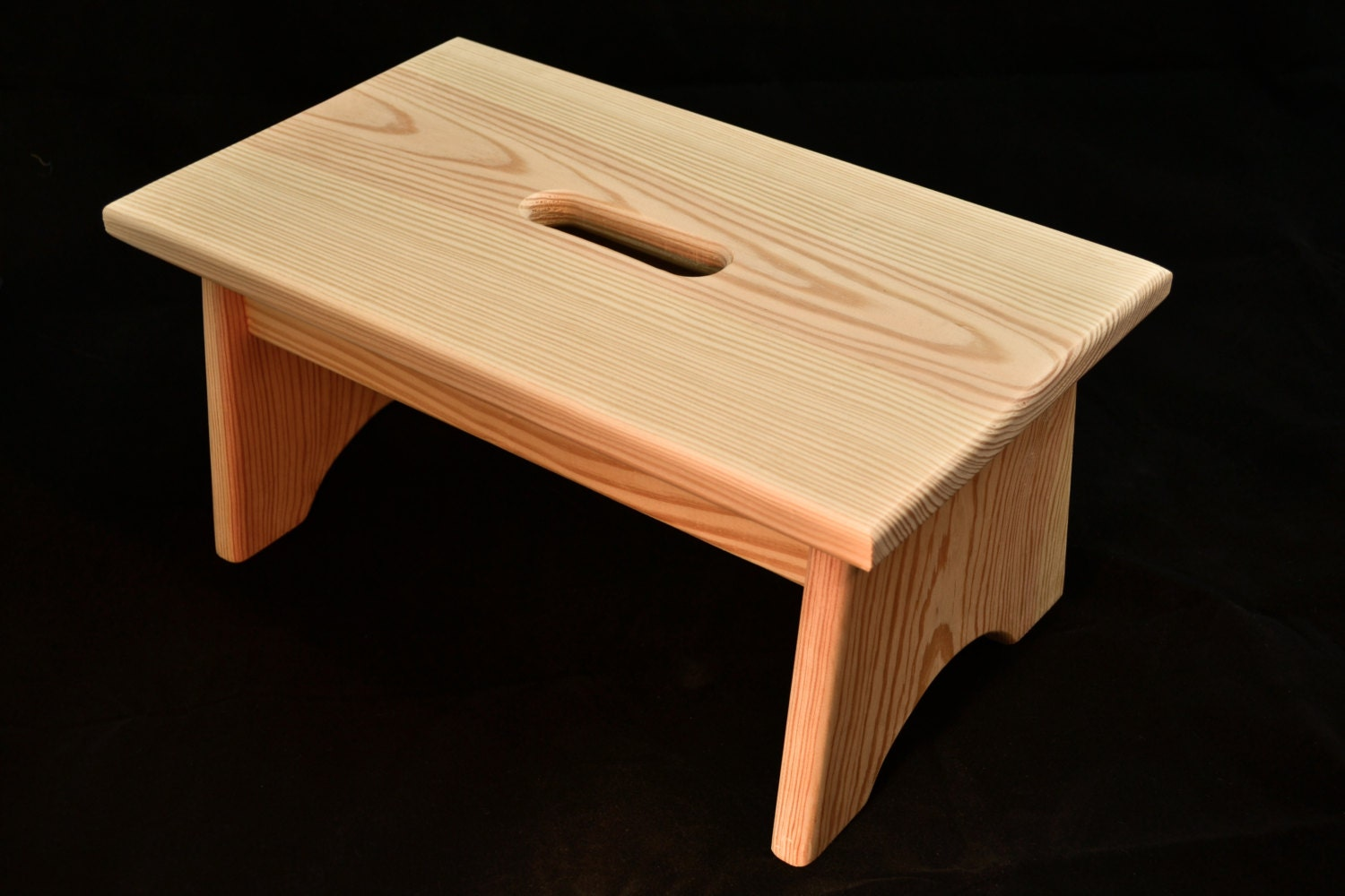 Wood Step Stool With Handle Hole Unfinished Pine 16l X