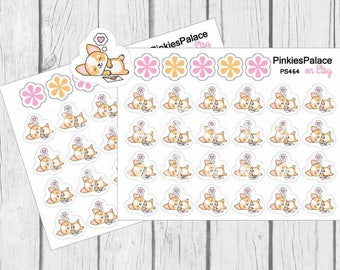 Dreaming Corgi Planner Stickers PS464