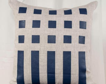 Lines and dots pillow