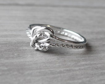 Double infinity ring • Love knot ring • Infinity knot ring • Sterling silver ring Sterling silver knot ring • Tie the knot ring bestfriend