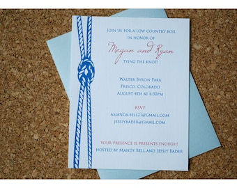 Nautical Tying Knot Shower Invitation