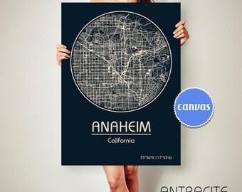 ANAHEIM California Map Anaheim Poster City Map Anaheim California Art Print Anaheim California poster Anaheim California map art Poster