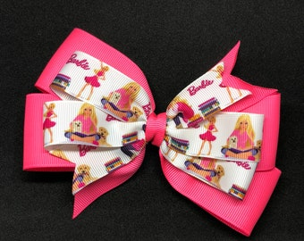 "5.5"" Hot Pink Barbie Bow"